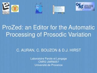 ProZed: an Editor for the Automatic Processing of Prosodic Variation