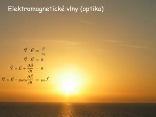 Elektromagnetické vlny (optika)
