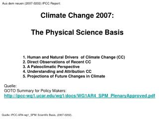 Climate Change 2007:  The Physical Science Basis