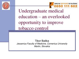 Undergraduate medical education � an overlooked opportunity to improve tobacco control