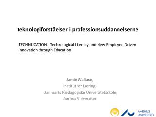 teknologiforståelser i  professionsuddannelserne