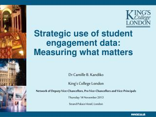 Strategic use of student engagement data: Measuring what matters