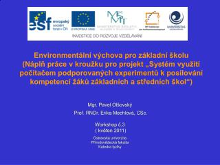 Environmentální výchova pro základní školu
