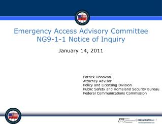 Emergency Access Advisory Committee NG9-1-1 Notice of Inquiry