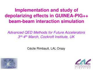Implementation and study of depolarizing effects in GUINEA-PIG++ beam-beam interaction simulation