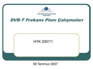 DVB-T Frekans Planı Çalışmaları