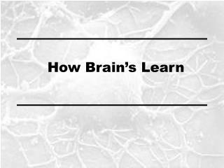 How Brain's Learn