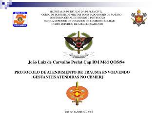 João Luiz de Carvalho Peclat Cap BM Méd QOS/94