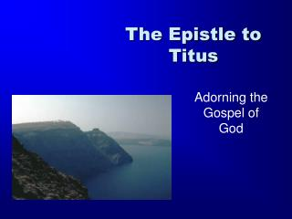 The Epistle to Titus