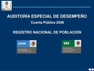 REGISTRO NACIONAL DE POBLACIÓN