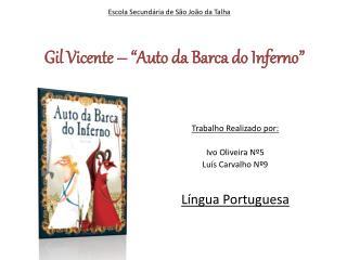 "Gil Vicente – ""Auto da Barca do Inferno"""
