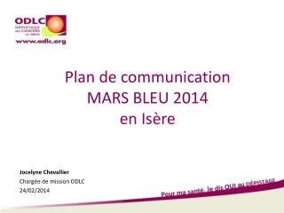 Plan de communication MARS BLEU 2014  en Is�re
