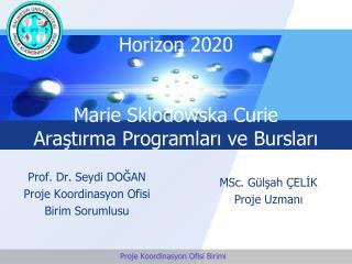 Horizon  2020 Marie Sklodowska Curie Araştırma Programları ve Bursları