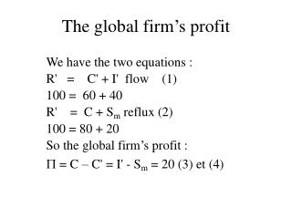 The global firm's profit