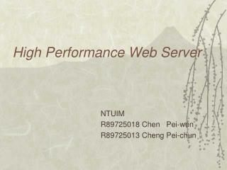 High Performance Web Server