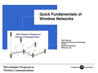 Quick Fundamentals of Wireless Networks