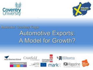 Automotive Exports: A Model for Growth?