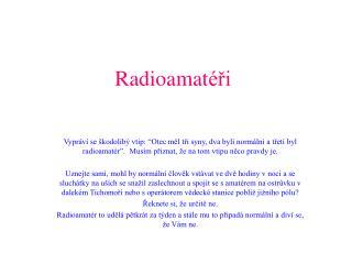 Radioamat éři