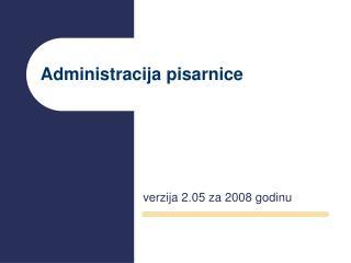 Administracija pisarnice