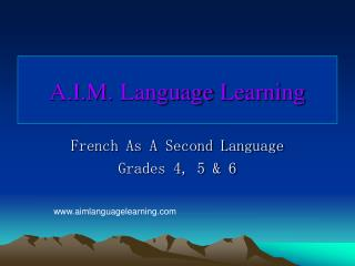 A.I.M. Language Learning