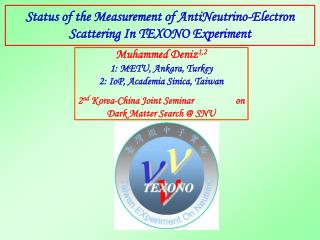 Status of the Measurement of AntiNeutrino-Electron Scattering In TEXONO Experiment