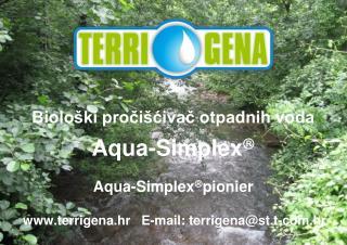 Biološki pročišćivač otpadnih voda Aqua-Simplex  Aqua-Simplex  pionier