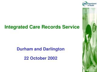 Integrated Care Records Service