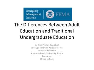 The Differences Between Adult Education and Traditional Undergraduate Education