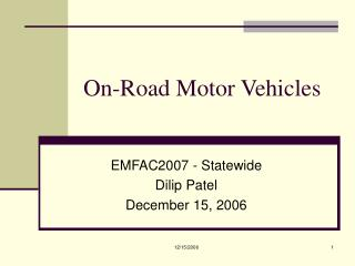 On-Road Motor Vehicles