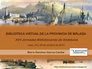 XVII Jornadas Bibliotecarias de Andalucía