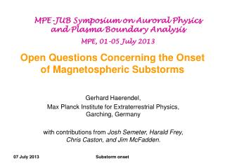 Open Questions Concerning the Onset of Magnetospheric Substorms
