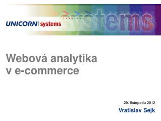 Webová analytika  v e-commerce