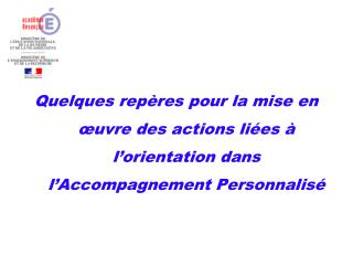 Accompagnement Personnalis�