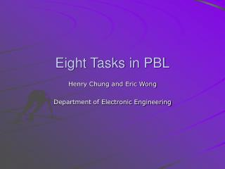 Eight Tasks in PBL