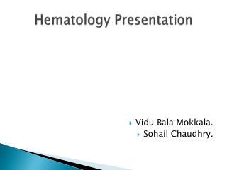 Hematology Presentation