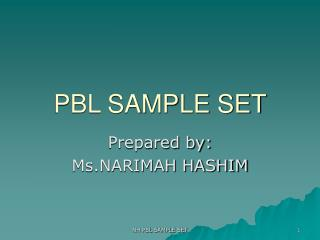 PBL SAMPLE SET