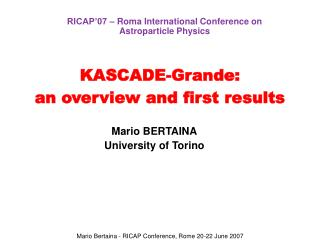 KASCADE-Grande: an overview and first results