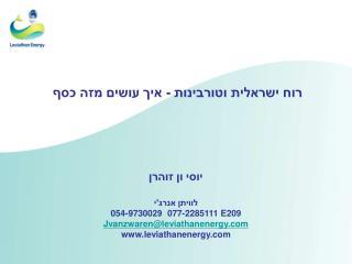 רוח ישראלית וטורבינות - איך עושים מזה כסף