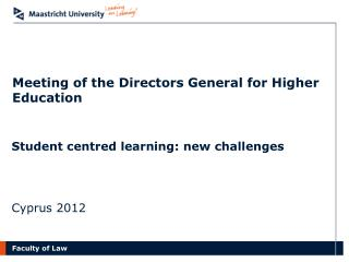 Meeting of the Directors General for Higher Education
