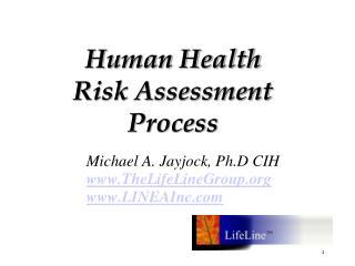Human Health  Risk Assessment  Process