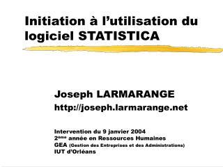 Initiation   l utilisation du logiciel STATISTICA