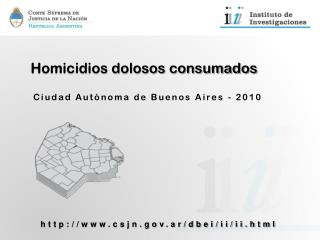 Homicidios dolosos consumados