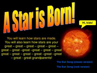 A Star is Born!