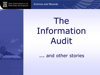 The Information Audit