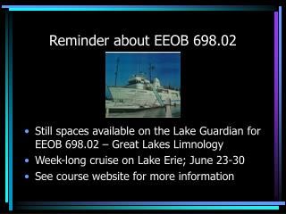 Reminder about EEOB 698.02