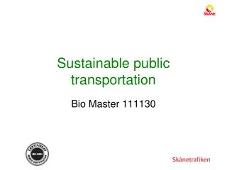 Sustainable public  transportation