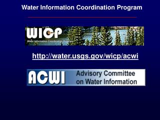 Water Information Coordination Program