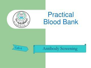 Practical  Blood Bank