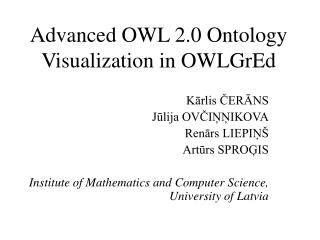 Advanced OWL 2.0 Ontology Visualization in OWLGrEd