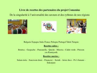Livre de recettes des partenaires du projet Comenius
